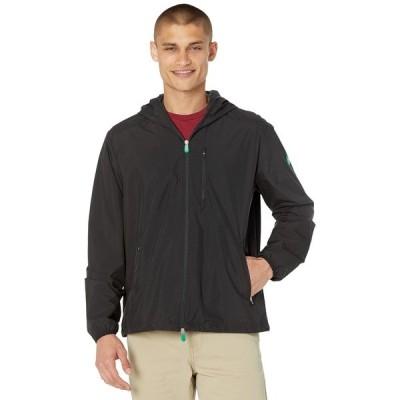 セーブザダック コート アウター メンズ David WIND Rain Jacket with Hood Black/Black