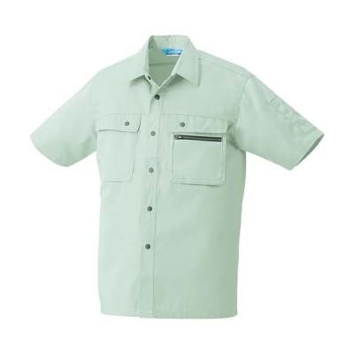 クロダルマ(KURODARUMA) 半袖シャツ ライトグリーン 26371 作業着 作業服 作業シャツ 春夏用 メンズ レディース