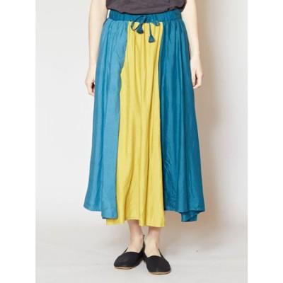【カヤ】かさねの色目スカート グリーン系その他