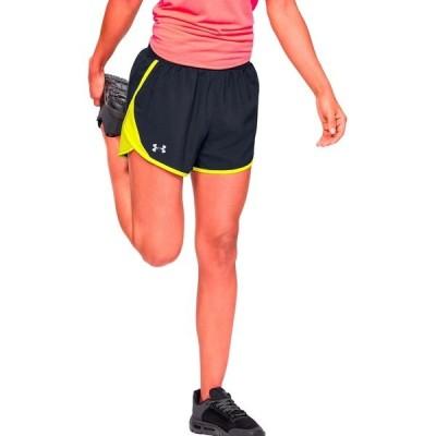 アンダーアーマー カジュアルパンツ ボトムス レディース Under Armour Women's Fly By 2.0 Shorts Black 01
