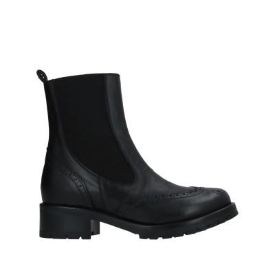 BRUGLIA ショートブーツ ブラック 39 牛革(カーフ) / 指定外繊維(その他伸縮性繊維) ショートブーツ