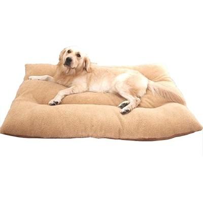 犬 猫 等 ペット ぐっすり眠る ふんわり ベッド マット クッション(茶65×50cmサイズ 推奨体重13kg以下)