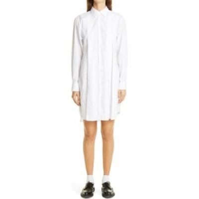 コム デ ギャルソン COMME DES GARCONS レディース ワンピース シャツワンピース ワンピース・ドレス Long Sleeve Cotton Shirtdress Whi