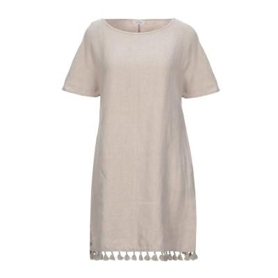 SAINT TROPEZ ミニワンピース&ドレス ベージュ 44 リネン 100% ミニワンピース&ドレス