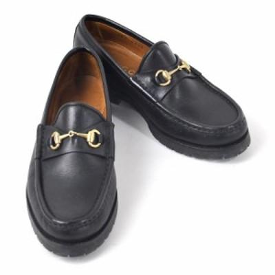 【定番人気】【中古】グッチ 靴 ローファー(35) ビットローファー ホースビット レディース ブラック y14922
