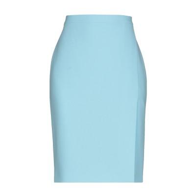 BOUTIQUE MOSCHINO ひざ丈スカート スカイブルー 40 トリアセテート 70% / ポリエステル 30% ひざ丈スカート