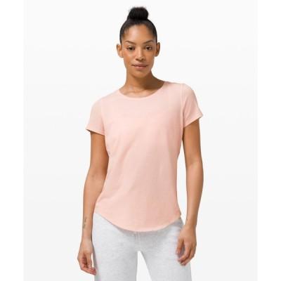 ルルレモン lululemon レディース Tシャツ トップス Love Crew Short Sleeve T-Shirt pink mist