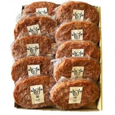 熟成牛肉のハンバーグとプレーンハンバーグの食べ比べ10個セット