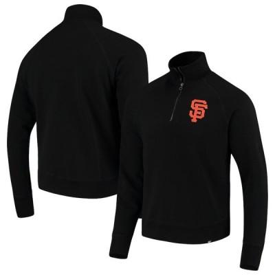 サンフランシスコ・ジャイアンツ '47 MLB Headline Quarter-Zip Pullover ジャケット - Black