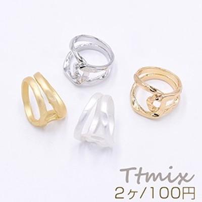 ファッションリング 指輪 デザインリング 幅約15.5mm【2ヶ】