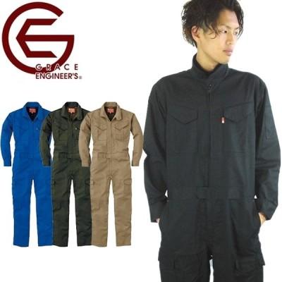 ツナギ 長袖 オールシーズン ジャンプスーツ グレースエンジニアーズ GRACE ENGINEERS つなぎ ツヅキ服 作業服 作業着 通年用 GE-627