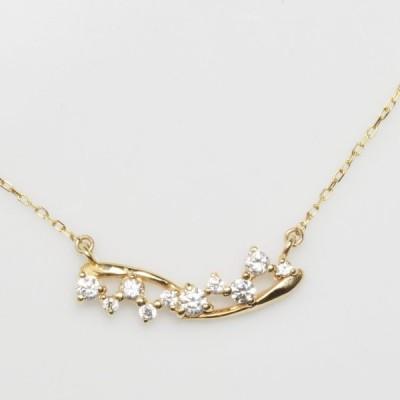 K18 ダイヤモンド ライン ネックレス 18金 ペンダント レディース ギフト プレゼント YG PG WG