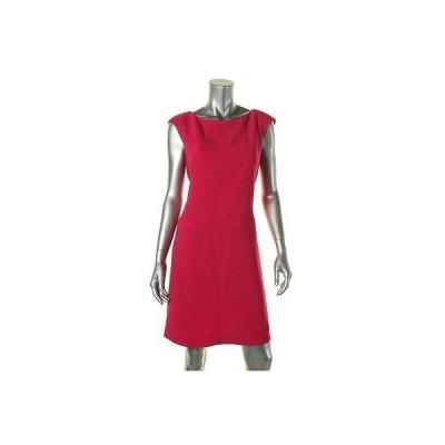 ドレス ワンピース American Living American Living 6766 レディース ピンク Textuレッド Cap スリーブ Wear to Work ドレス 16 BHFO