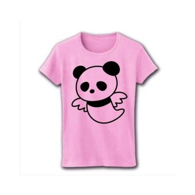 クリオネぱんだ リブクルーネックTシャツ(ライトピンク)