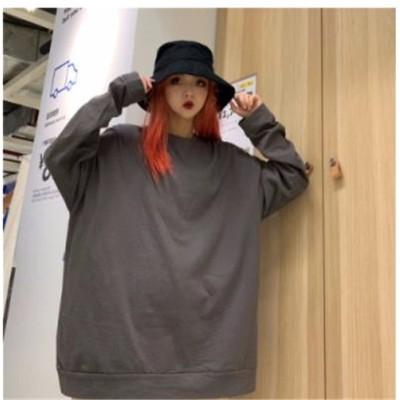 [55555SHOP]◆大人気 INS 話題◆長袖 カジュアル Tシャツ トップス カレッジ風 ゆったり 個性  カジュアル Tシャツ