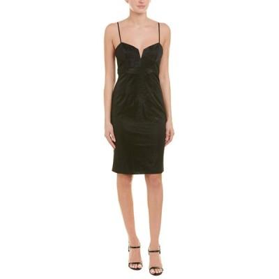 バードット ワンピース トップス レディース Bardot Metallic Sheath Dress black