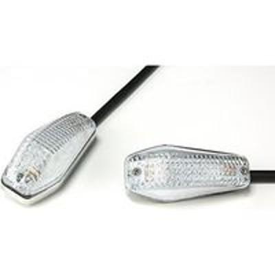 ワイビーエーバイクパーツセンター 汎用 LEDウインカー 左右セット クリア 貼り付けタイプ 313804(直送品)
