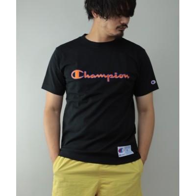 tシャツ Tシャツ Champion C3-Q301 ロゴプリント 半袖 クルーネック Tシャツ