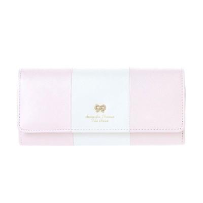 サマンサタバサプチチョイス リボンストーンモチーフシリーズ バイカラーバージョン 長財布 ピンク