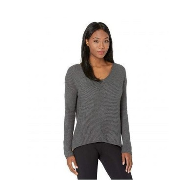 tentree レディース 女性用 ファッション セーター Highline Cotton V-Neck Sweater - Dark Grey Heather