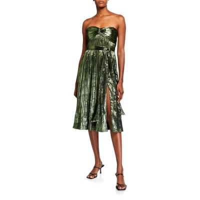 ジョナサンシムカイ レディース ワンピース トップス Strapless Metallic Plisse Short Gown