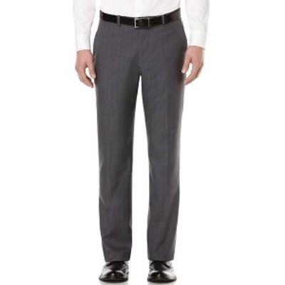 ペリーエリス メンズ カジュアルパンツ ボトムス Modern-Fit Performance Stretch Dress Pants Charcoal Check
