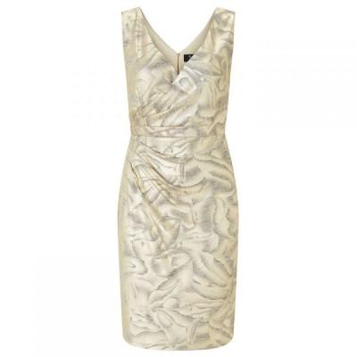 アリエラ ロンドン Ariella London レディース パーティードレス ワンピース・ドレス Ariella Dolce Metallic Jersey Dress CREAM GOLD