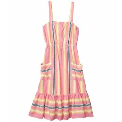 ビービーダコタ ワンピース トップス レディース Yarn-Dyed Linen Stripe Dress Pink Lemonade