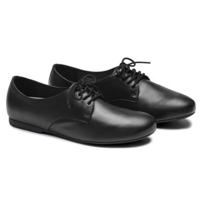 ビルケンシュトック レディース シューズ 革靴 ソーンダース レザー ブラック ナローフィット(幅狭) BIRKENSTOCK Saunders