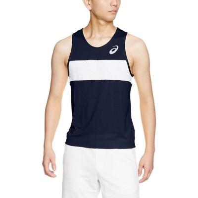 [アシックス] 陸上ウエア ランニングシャツ XT1039 [メンズ] ネイビー 日本 XL (日本サイズXL相当)