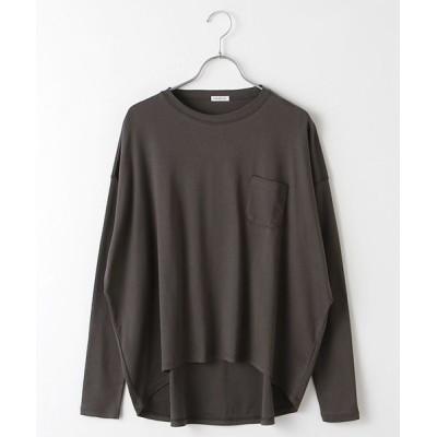 Harriss/ハリス コットンポンチワイドTシャツ チャコールグレー 9号