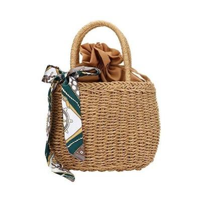 かごバッグ レディース ハンドルバック おしゃれ 可愛い 人気 草編みバッグ パーチャスバッグ 手提げカバン ショルダーバッグ トートバッグ 大容量