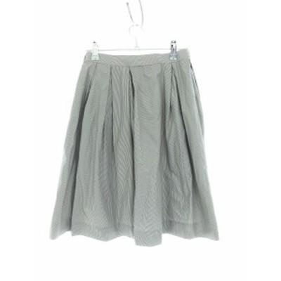 【中古】アーバンリサーチ URBAN RESEARCH スカート フレア ひざ丈 総柄 F グレー /M2 レディース