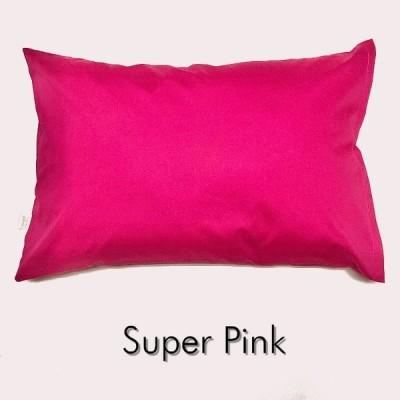 全18色 Mサイズ 枕カバー【スーパーピンク】ピロケース/43cm×63cm/無地/ポイント消化♪