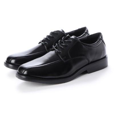 ウィルソン Wilson_ ビジネスシューズ メンズ 4cm防水防滑 スワールモカ 紳士靴 (BLACK)