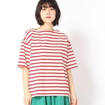 グランドパーク(GRAND PARK)/デラヴェボーダー柄半袖Tシャツ