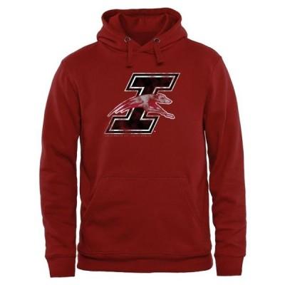 ユニセックス スポーツリーグ アメリカ大学スポーツ Indianapolis Greyhounds Classic Primary Pullover Hoodie - Crimson Tシャツ