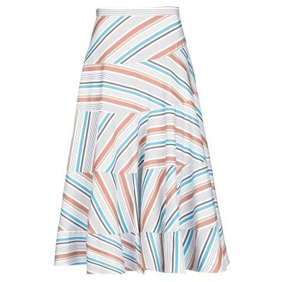 イサ アフェン ISA ARFEN 7分丈スカート ブラウン 6 コットン 100% 7分丈スカート