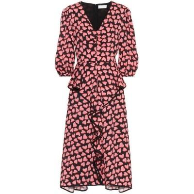 レベッカ ヴァランス Rebecca Vallance レディース ワンピース ミドル丈 ワンピース・ドレス hotel beau crepe midi dress Print
