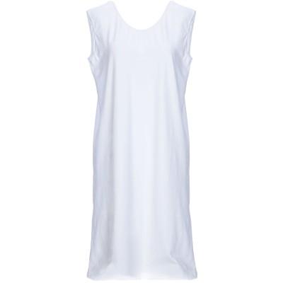 SATÌNE ミニワンピース&ドレス ホワイト M コットン 100% / セルロース ミニワンピース&ドレス
