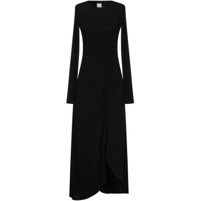 ピンコ PINKO 7分丈ワンピース・ドレス ブラック XS レーヨン 94% / ポリウレタン 6% 7分丈ワンピース・ドレス
