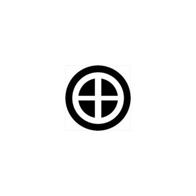 家紋シール 轡紋 直径24cm 丸型 白紋 KS24M-3708W