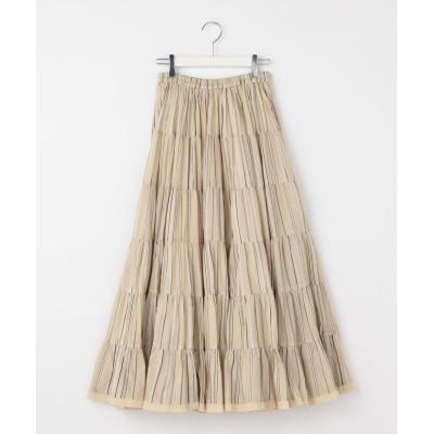 【ノーリーズ】 草原の虹のスカート プリント レディース ブラウンベージュ系3 38 NOLLEY'S