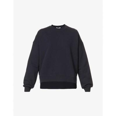 ガニー GANNI レディース スウェット・トレーナー トップス Dropped-shoulder recycled-cotton and recycled-polyester blend sweatshirt SKY CAPTAIN