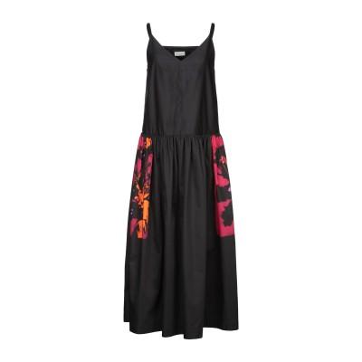 ドリス ヴァン ノッテン DRIES VAN NOTEN ロングワンピース&ドレス ブラック 36 コットン 100% ロングワンピース&ドレス