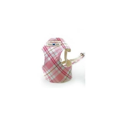 フェリーク オリジナルチェックベストハーネス5号 ピンク(犬用ハーネス) n