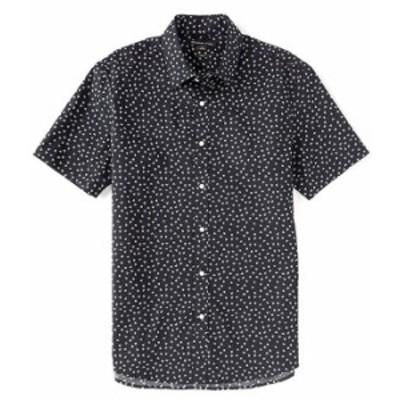 マイケルコース メンズ シャツ トップス Slim-Fit Mini Floral Print Stretch Short-Sleeve Woven Shirt Dark Midnight