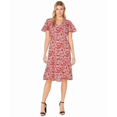 トッミーバハマ ワンピース トップス レディース Shell We Dance Short Sleeve Midi Dress Poppy Red