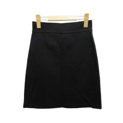 【中古】クチュールブローチ COUTURE BROOCH スカート ミニ 台形 コットン 38 ブラック 黒 レディース 【ベクトル 古着】
