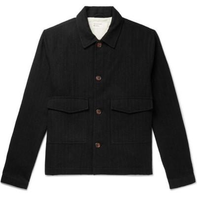 ユニバーサルワークス UNIVERSAL WORKS メンズ シャツ トップス striped shirt Black